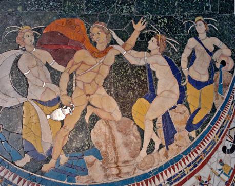romėnų piešinys, vaizduojantis Hilą ir nimfas