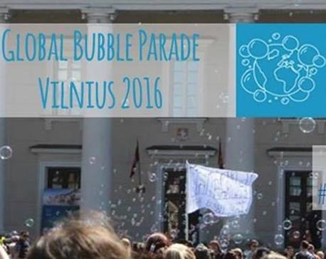 global bubble parade Vilnius