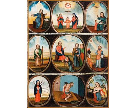 Šventieji giminaičiai, 1832 m. Drobė, aliejus, 96x72 cm. Dailininkas nežinomas