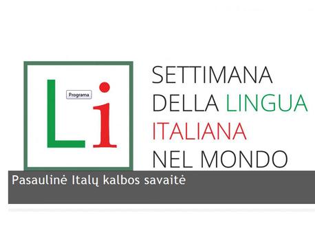 italu kalbos savaite